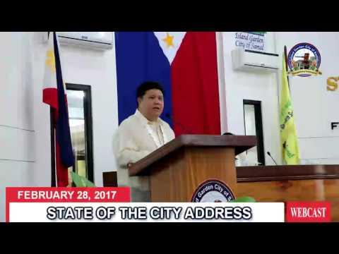 State of the City Address by Samal Island Mayor Al David T. Uy - 28 February 2017
