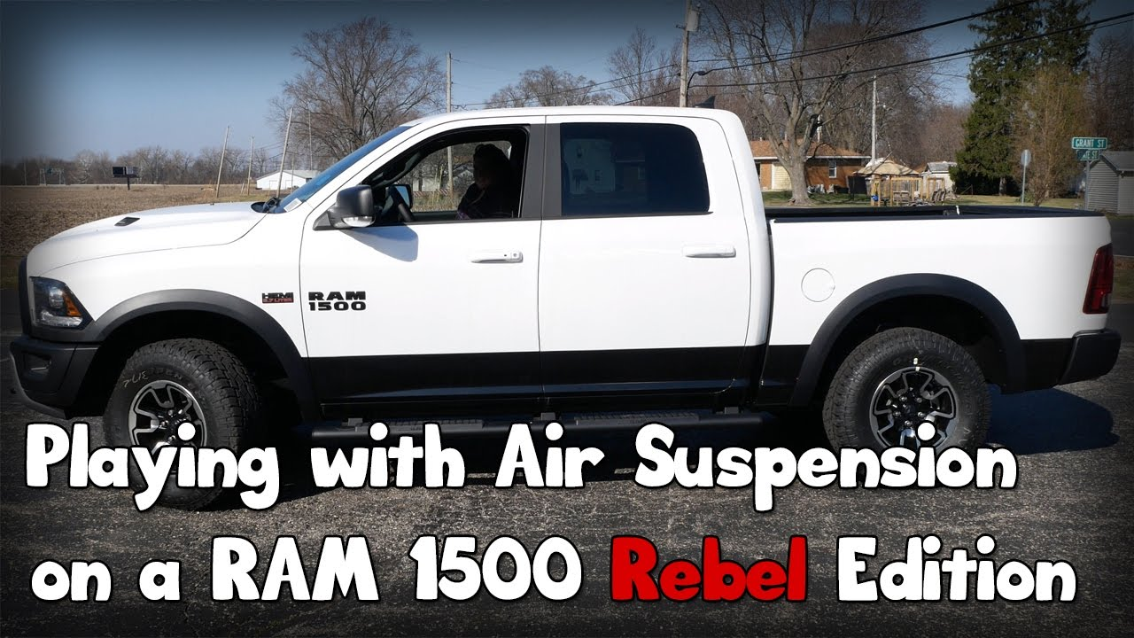 hight resolution of playing with the air suspension on a ram 1500 rebel edition