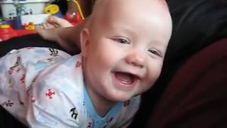 Laughing at Daddy hiccups