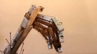Animatronic Balsa Wood Hand