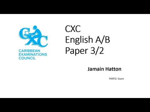 CXC English 3 2 Paper PART 2 YouTube