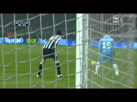 Juventus 2-0 Catania (13.01.11), Buffon's save 82'