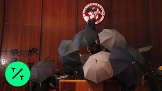 Hong Kong Protesters Storm Legislature, Vandalize Chambers