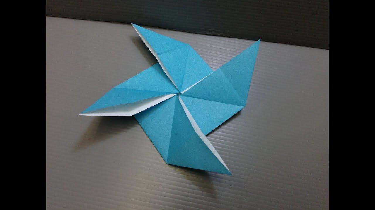 daily origami  093 - pinwheel