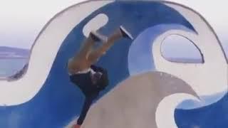 Skateboarder Lands on Head After Slipping on Wet Ramp - 1036051