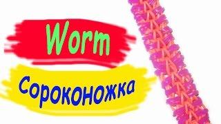 Rainbow Loom Bands. Браслет из резинок. Сороконожка. Лучший мастер-класс / Bracelet gum. Centipede