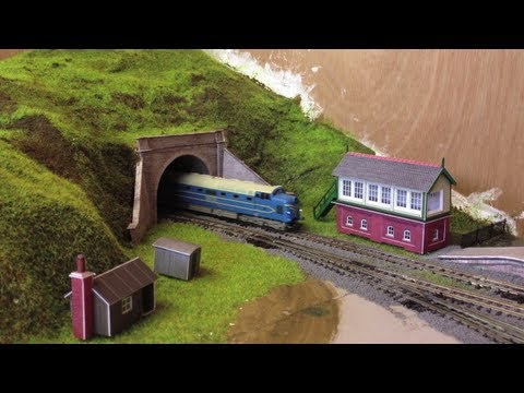 Metcalfe Signal Box card kit, n gauge model railway kit review