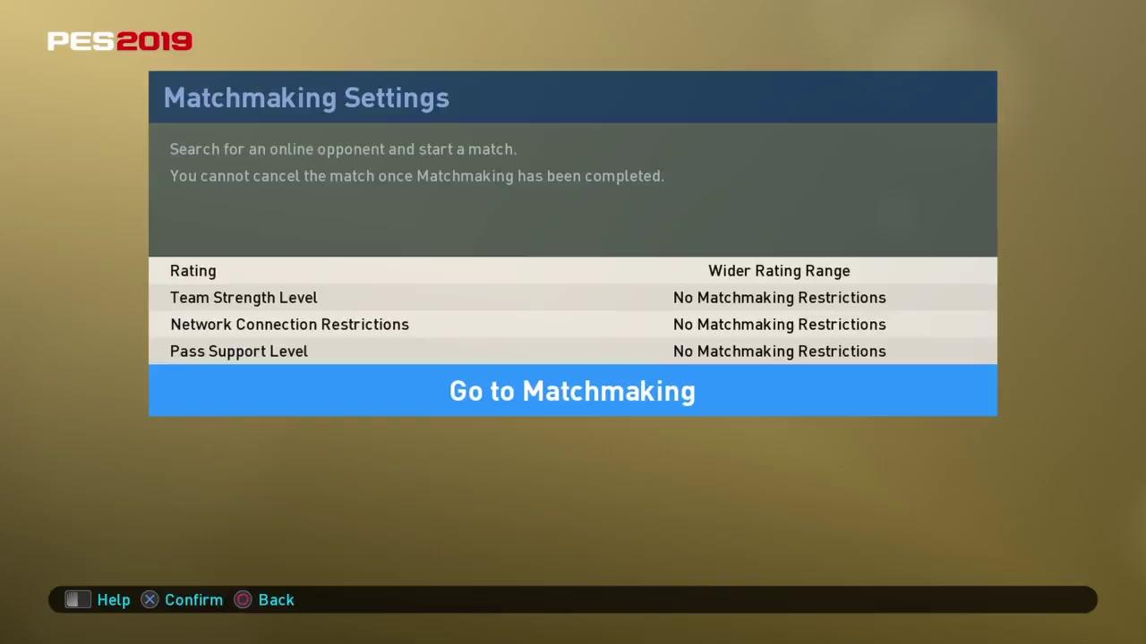 Ultimate Team matchmaking asetukset