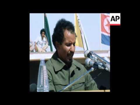 SYND 5 3 80 POLISARIO GUERRILLAS CELEBRATE 4TH ANNIVERSARY