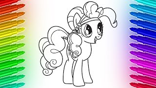 How to draw and color My Little Pony Pinkie Pie 🎨 Cool Coloring Pages