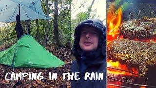 Camping in the Rain | wet weather fire lighting | Vango Pro 200 trek Tent