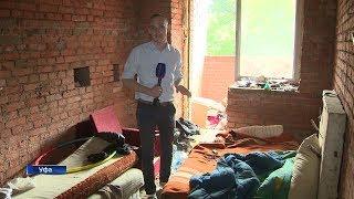 Долгострой в историческом центре Уфы превратился в ночлежку для бездомных