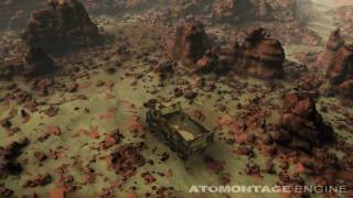 Atomontage Engine - A Large Game-Like Scene
