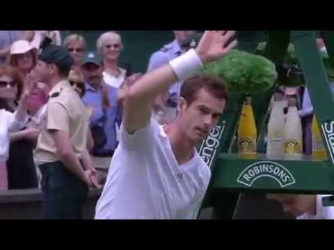 Andy Murray back on Centre Court - Wimbledon 2014