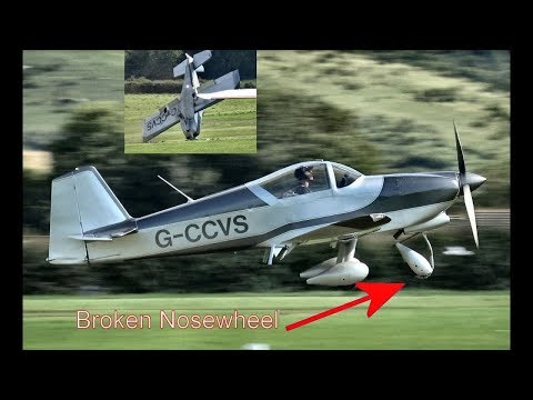 Aircraft Crashes On Landing At Old Sarum, UK (Vans RV6A)