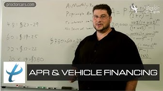 Vehicle Financing and APR - Interest Rates,FICO Credit,and Loans