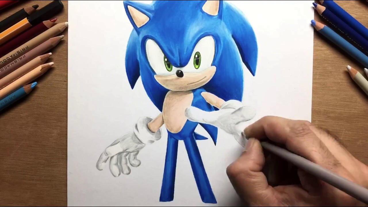 Drawing Sonic The Hedgehog Timelapse Artology Youtube