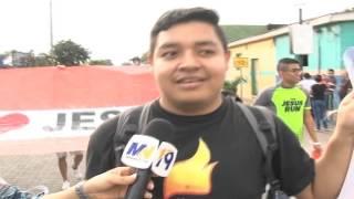 Iglesias evangélicas realizan marcha  por la paz en Santa Tecla