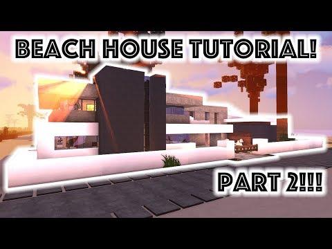Minecraft Tutorial: Modern Beach Mansion #3!!! [4K UHD] (Part 2)
