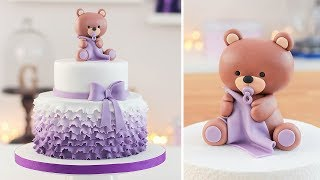 Easy Baby Shower Cake Bear cake Topper - Tan Dulce