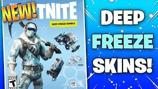 *NEW* The DEEP FREEZE SKIN BUNDLE In Fortnite!