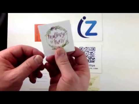 Square Business Cards on Extra-thick Paper at THikit