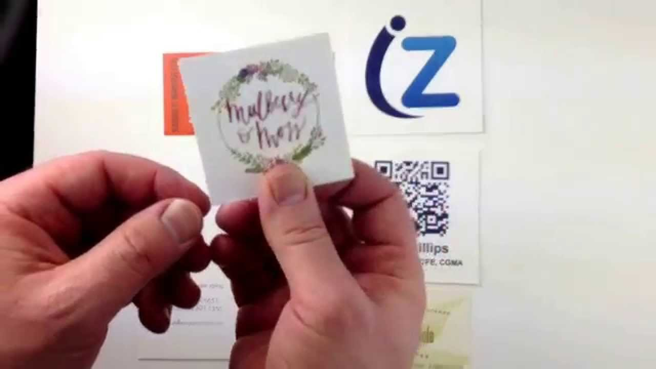 Square Business Cards on Extra-thick Paper at THikit - YouTube