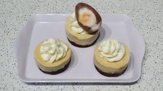 Mini No Bake Creme Egg Cheesecakes Recipe