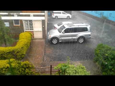 RAINING HAIL IN NAIROBI