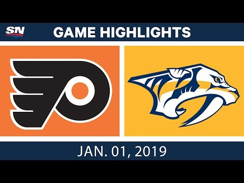 NHL Highlights | Flyers vs. Predators - Jan. 1, 2019
