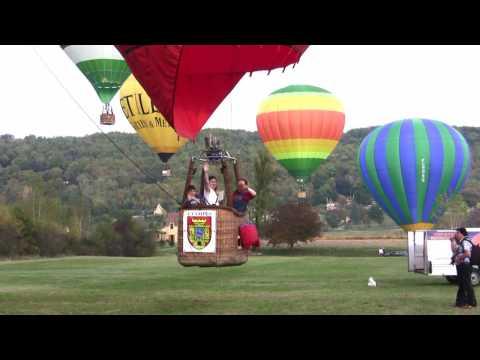 De la Roque Gageac à Beynac en montgolfiere