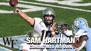 Wake forest quarterback sam hartman got the reins to offense this season, and is making most of his opportunity. demon deacons have won 4 thei...