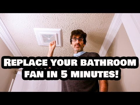 Replace Your Bathroom Fan in 5 Minutes FLAT!  NO Attic Access!