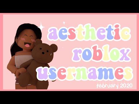 50 Aesthetic Roblox Usernames February 2020 Youtube