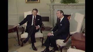 President Reagan's Meeting with Grand Duke Jean of Luxembourg on November 13, 1984