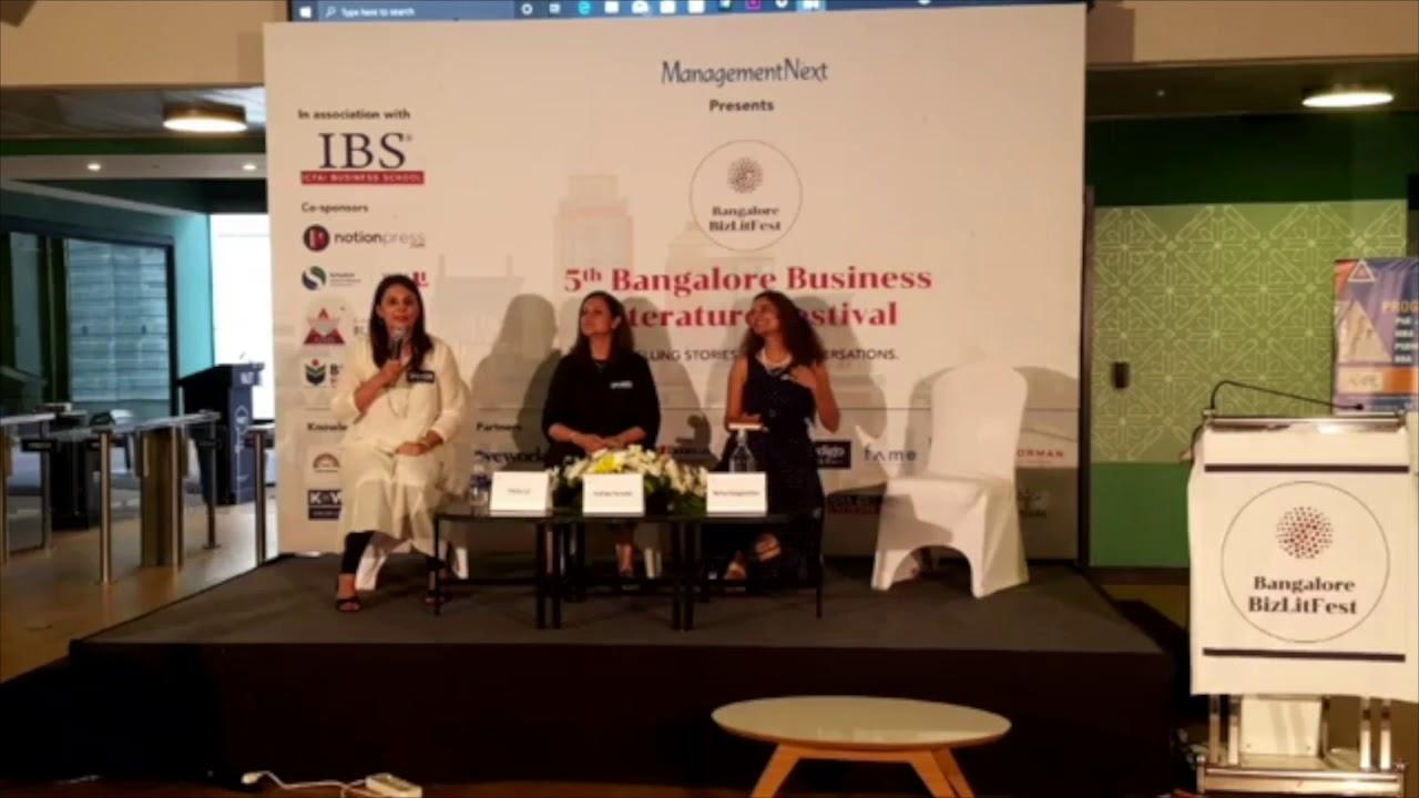 Bangalore BizLit fest, Shalini Lal, Pradnya Parasher and Ramya Ranganathan