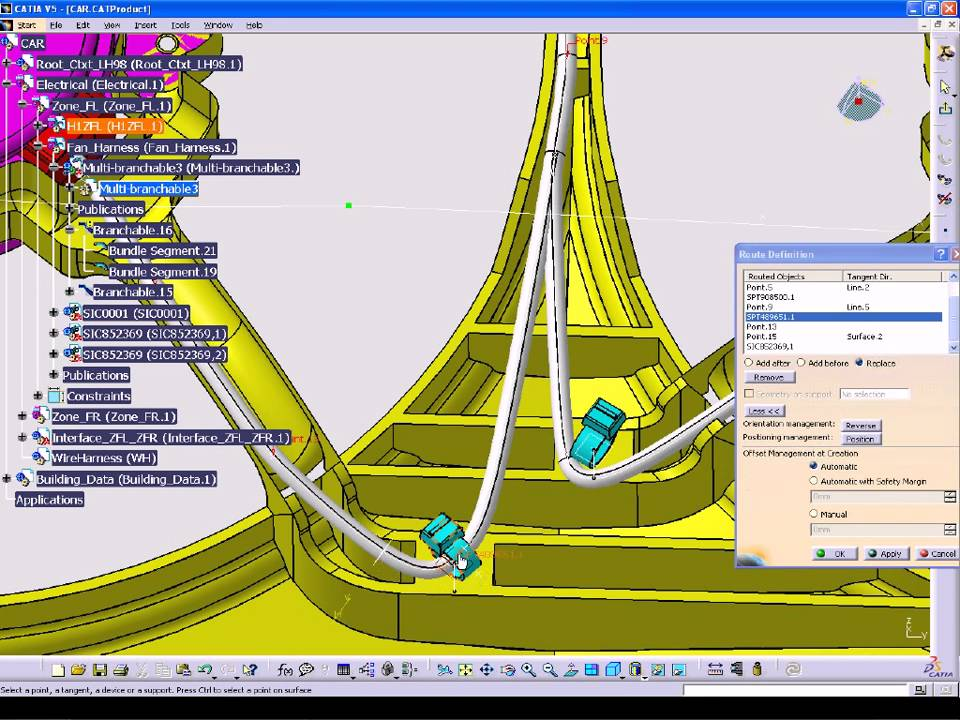 CATIA V5 Electrical Wire Harness Design WHX YouTube