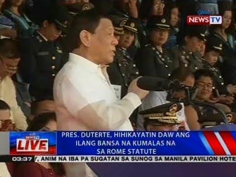 NTVL: Pres. Duterte, hihikayatin daw ang ilang bansa na kumalas na sa Rome Statute