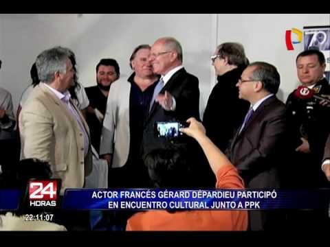 Actor francés Gérard Depardieu participó en encuentro cultural junto a PPK