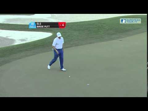 Ernie Els round 1 Qatar Masters