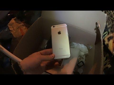 Мои находки в мусорных баках! Нашел Iphone 6! Смартфон самсунг и многое другое!