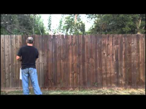 easy way to waterproof stain a wooden fence youtube. Black Bedroom Furniture Sets. Home Design Ideas