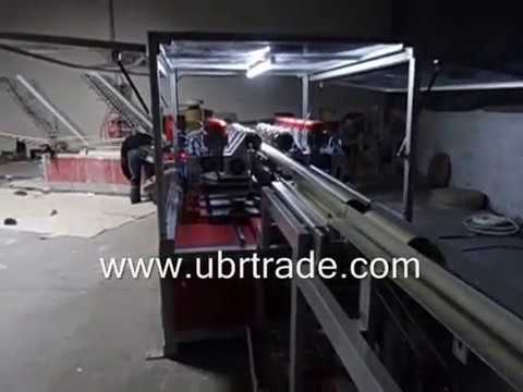 Paper tube machine multiblade cutting system