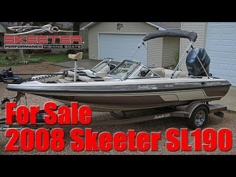 SOLD: 2008 Skeeter SL190 Fish 'N Ski Boat
