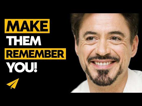 Be MEMORABLE - Robert Downey Jr. (@RobertDowneyJr) advice - #Entspresso