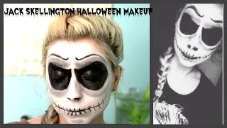 Jack Skellington Halloween Makeup | HeyThereBella | Thumbnail