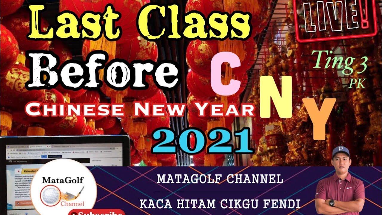 Santai sebelum CNY 2021