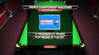 2015 Betfred World Championship Qualifiers - Tuesday 14th April