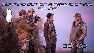 HOW TO HUNT OUT OF A-FRAME STYLE BLINDS?? Field Facts With Forrest Episode #6