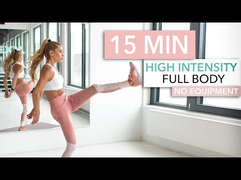 15 MIN FULL BODY HIIT WORKOUT burn lots of calories / No Equipment I Pamela Reif